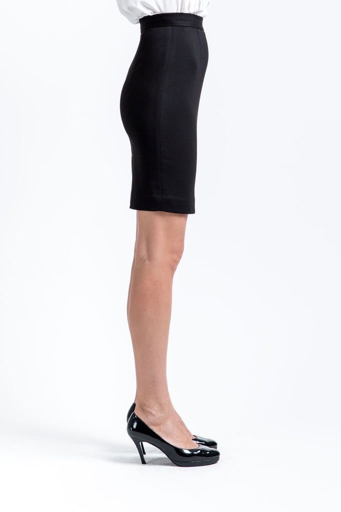 Maxi Stretch Pencil Skirt - Classic Black