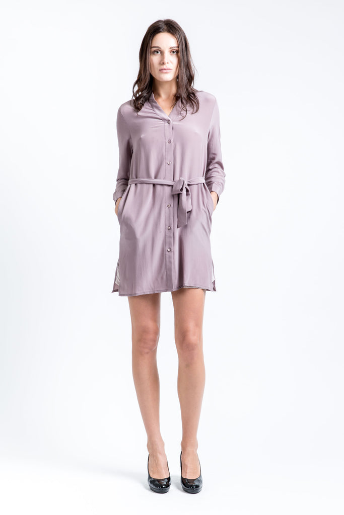 Slinky Silk Dress – Lilac