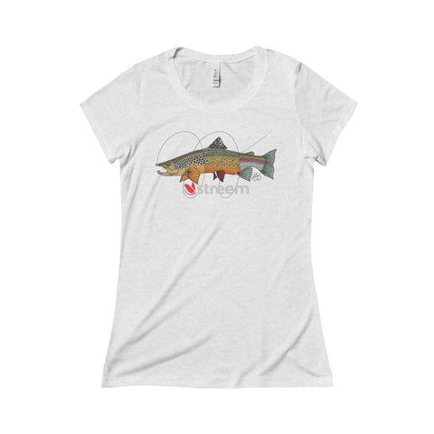 Tri-Trout Triblend Short Sleeve Tee - Womans