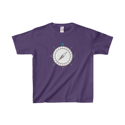 Kids Compass Tee - Aqua Green Fly
