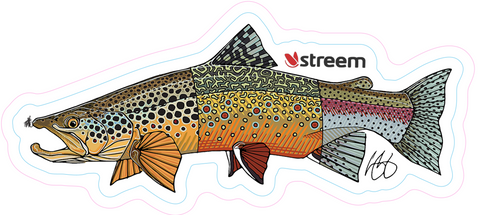 Tri-Trout Decal