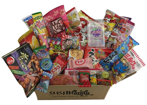 Sushi candy subscription box June Dagashi set