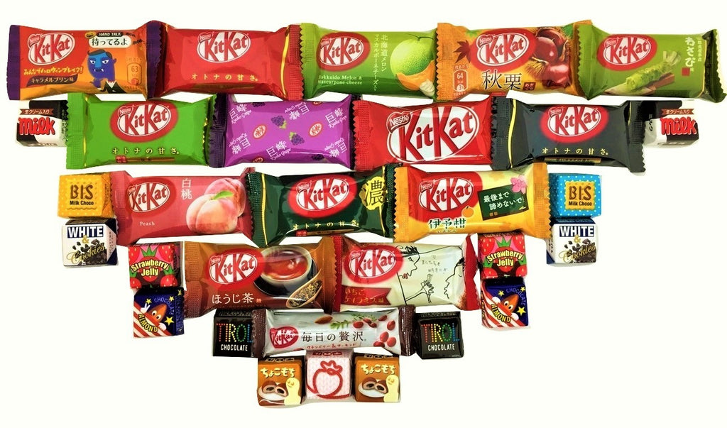 30 chocolates 15 mini kit kat + 15 tirol