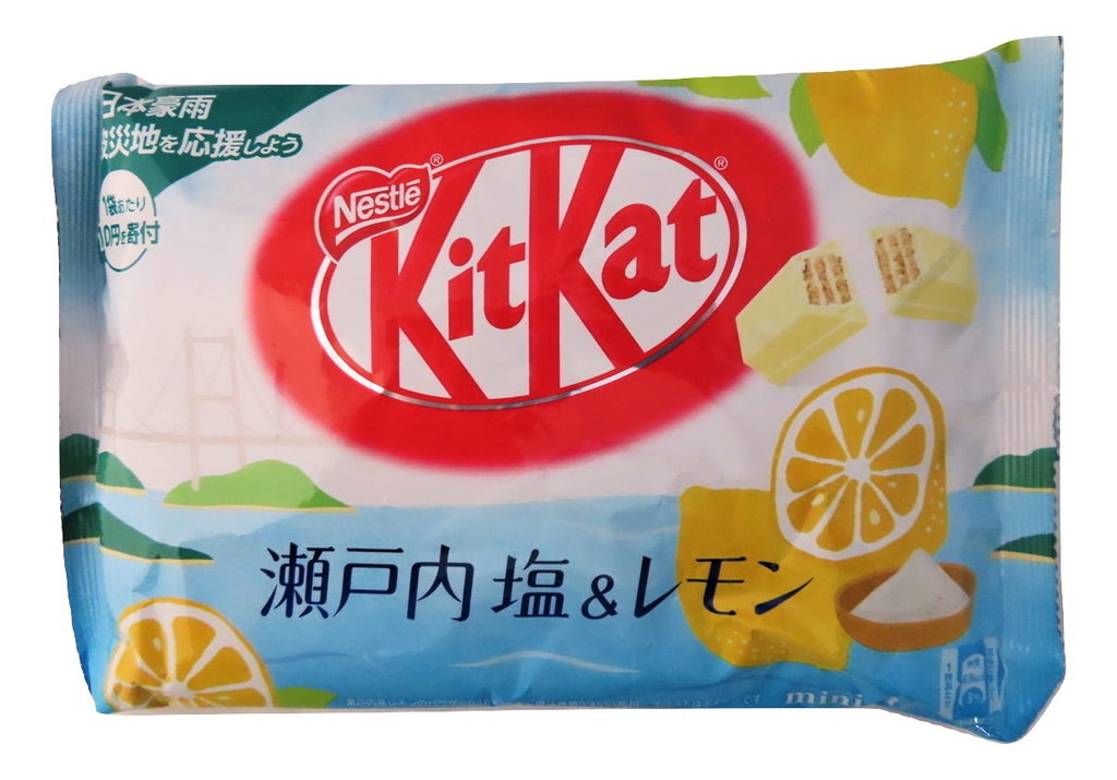 Japanese kit kat Salt and Lemon flavor