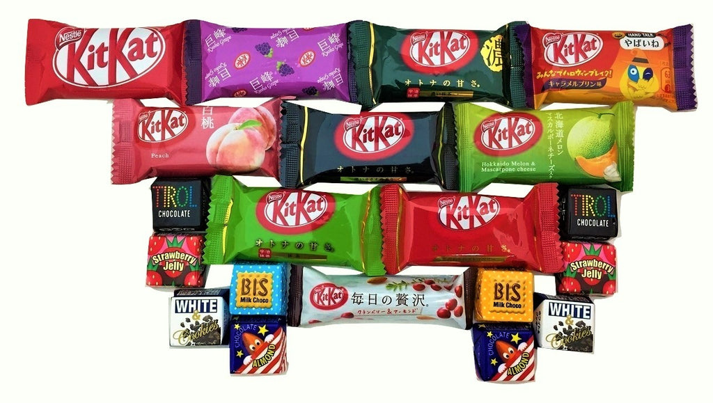 20 chocolates 10 mini kit kat + 10 tirol