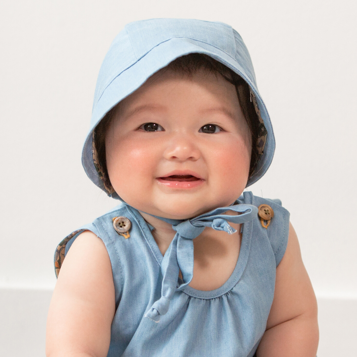 Tencel Washed Denim Baby Bonnet