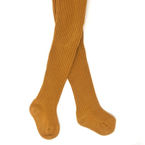 Tumeric Baby Ribbed Tights