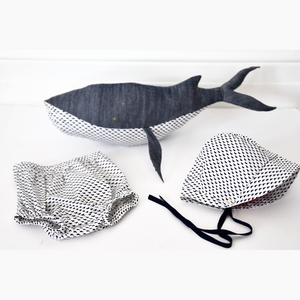 Open image in slideshow, Whale Print Lovey Gift Set