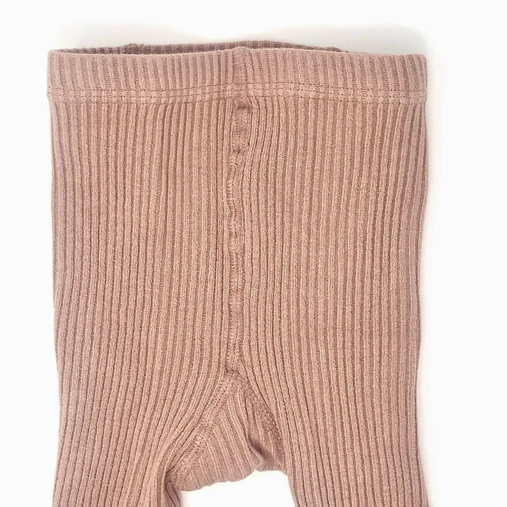Dusty Rose Baby Ribbed Tights