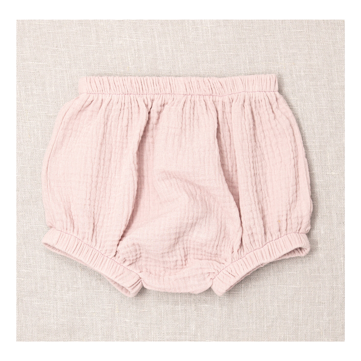 Powder Cotton Gauze Knicker & Bonnet Set