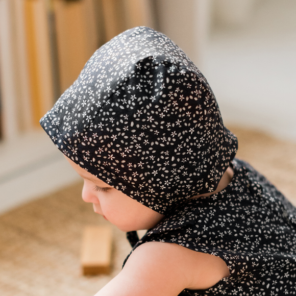 Navy Printed Bonnet