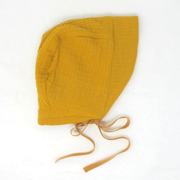 Cotton Gauze Bonnet - Sunflower
