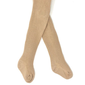 Oatmeal Baby Ribbed Tights