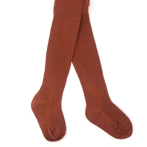 Brick Baby Ribbed Tights