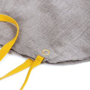 Bonnet in Grey Linen