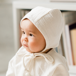 Cream Cotton Bonnet