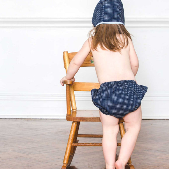 Navy Cotton Knicker