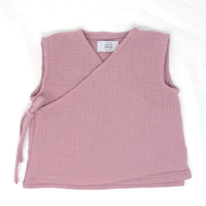 Wrap Front Tank Top - Dusty Rose