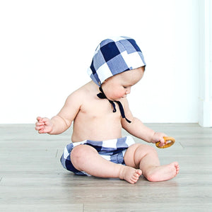 Petits Genoux X Hästens Blue Check Knickers