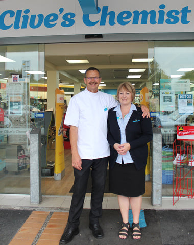 Jo Gilbert, 20 years at Clive's Chemist