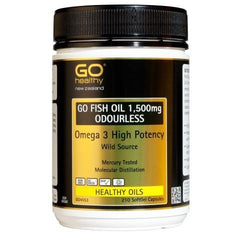 Go Fish Oil 1500mg Odourless capsules (210)