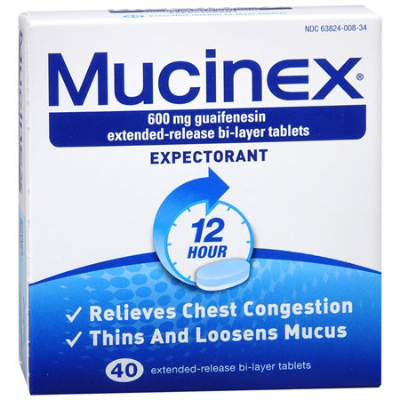 Mucinex SE 600mg Tablets (40)