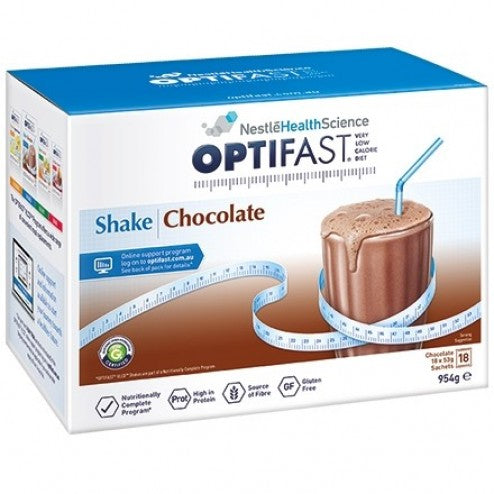 Optifast Milkshake Choclate 18 x 53g sachets