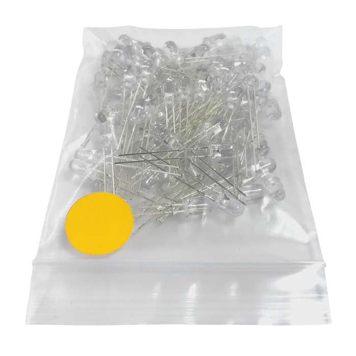 LED Amarillo Ultrabrillante 5mm - 100 Pzas