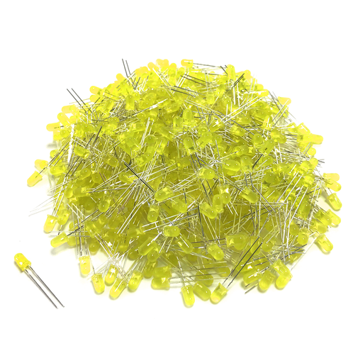 Kit de LED Amarillo 5mm - 1000 pzas - 330ohms