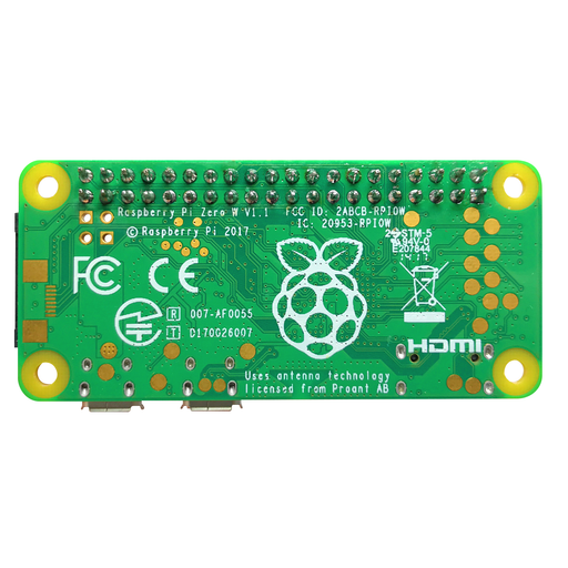 Raspberry Pi Zero W con headers - 330ohms
