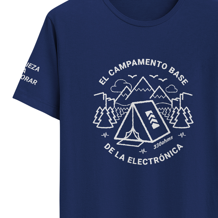 "Playera ""Campamento base"" 330ohms"