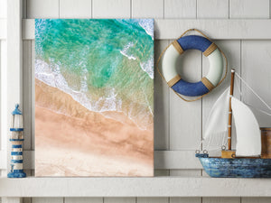 Large Australia Landscape Canvas Prints - Aerial view of a sandy beach