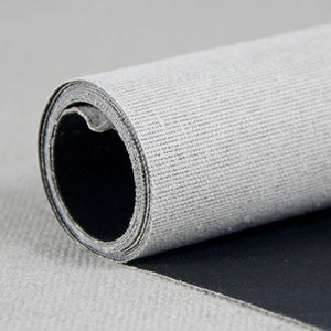 10M Roll Black Primed Artist Canvas Roll 1.7m Wide - Medium Texture, 100% Cotton