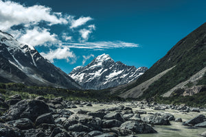 120 x 80cm Large Landscape Canvas Prints - Hooker Valley, Canterbury - New Zealand