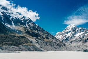 120 x 80cm Large Landscape Canvas Prints - Hooker Lake, Canterbury - New Zealand