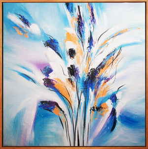 Abstract Hand Painting - MS013 Blossom - MeMe Art Perth Affordable Canvas Art Framed