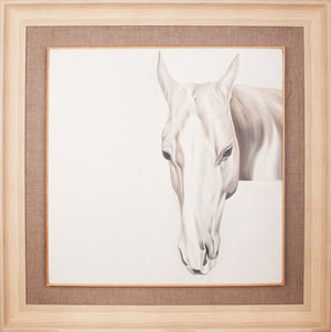 Modern Wall Art Hand Painting  - QC011 Horse Head - MeMe Art Perth Affordable Canvas Art Framed