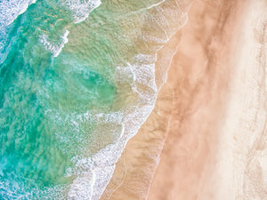 Aerial view of a sandy beach