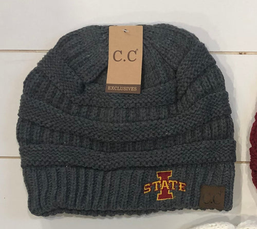 IOWA STATE C.C. BEANIE 3 COLOR OPTIONS