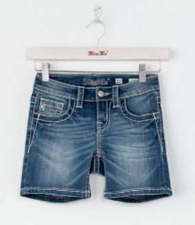 Miss Me Indigo Mid-Shorts - Girls