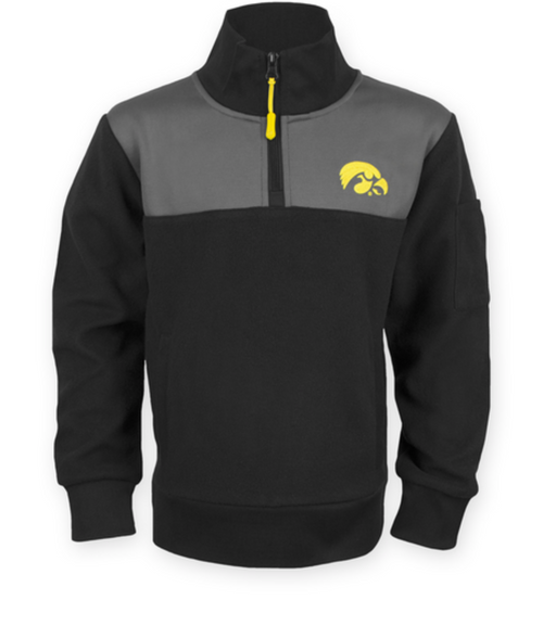 Youth Kids Iowa Hawkeyes Toby Fleece Pullover