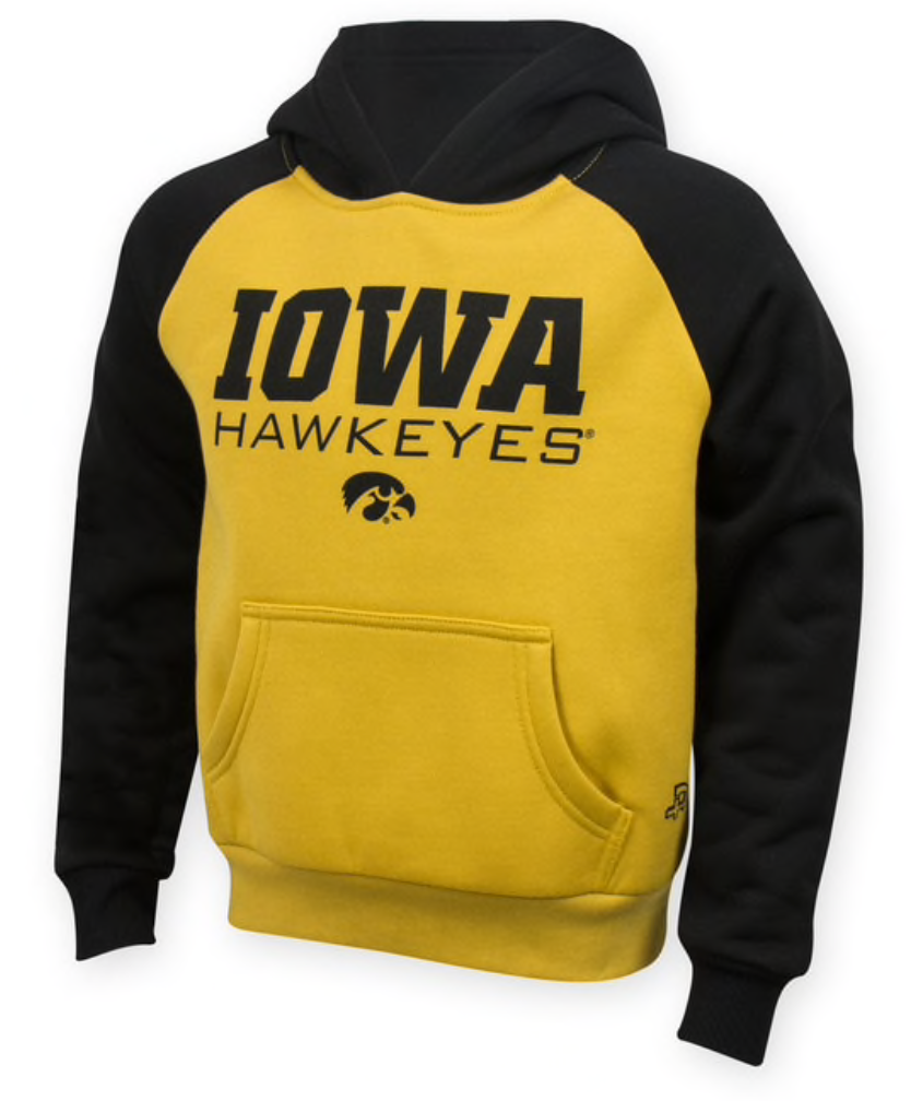 YOUTH IOWA HAWKEYES LAWRENCE HOODED SWEATSHIRT