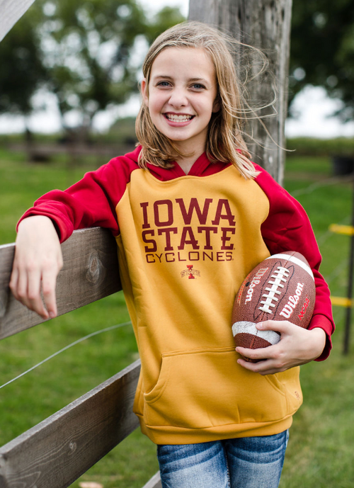 YOUTH ISU IOWA STATE CYCLONES LAWRENCE HOODED SWEATSHIRT