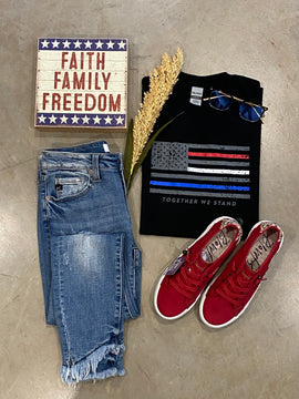 Together We Stand Flag Graphic Tee