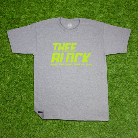 THEE BLOCK OG-HEATHER/HIGHLIGHTER YELLOW