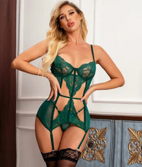 Green Cage Lingerie Dress