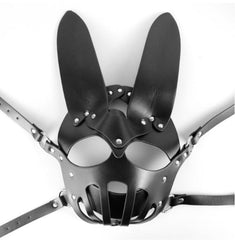 Caged Bunny Black Mask