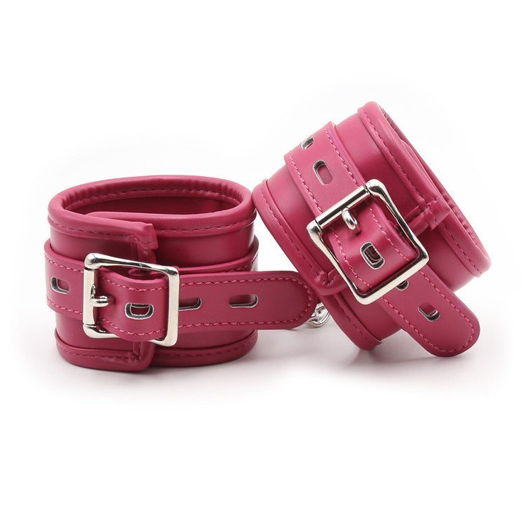 Pink PU Leather Wrist Restraints