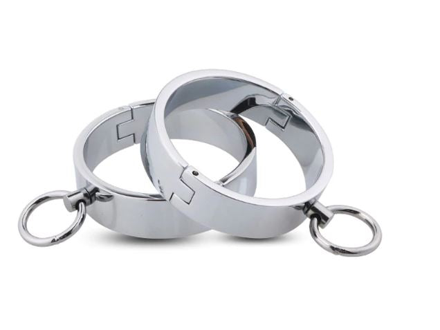 Thin Solid Steel Wrist Restraints