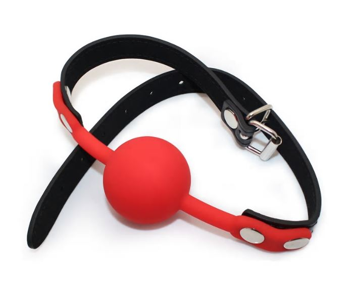 Silicone Ball Gag PU Leather Strap